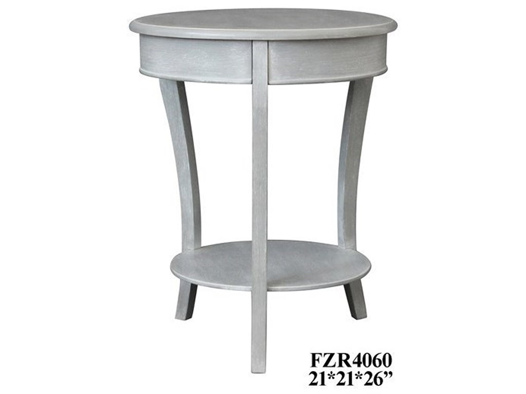crestview collection accent furniture emma chalk grey table products color distressed quatrefoil end with mirror furniturechalk vitra replica offset umbrella small light high top