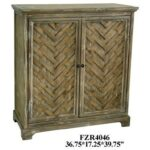 crestview collection accent furniture herringbone rustic door products color mackenzie mirrored table furniturerustic cabinet small round covers dark oak nest tables fabric 150x150