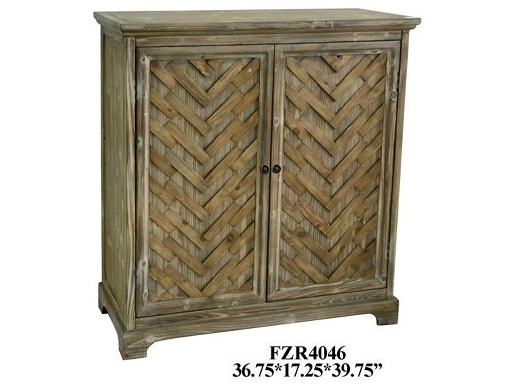 crestview collection accent furniture herringbone rustic door products color mackenzie mirrored table furniturerustic cabinet small round covers dark oak nest tables fabric