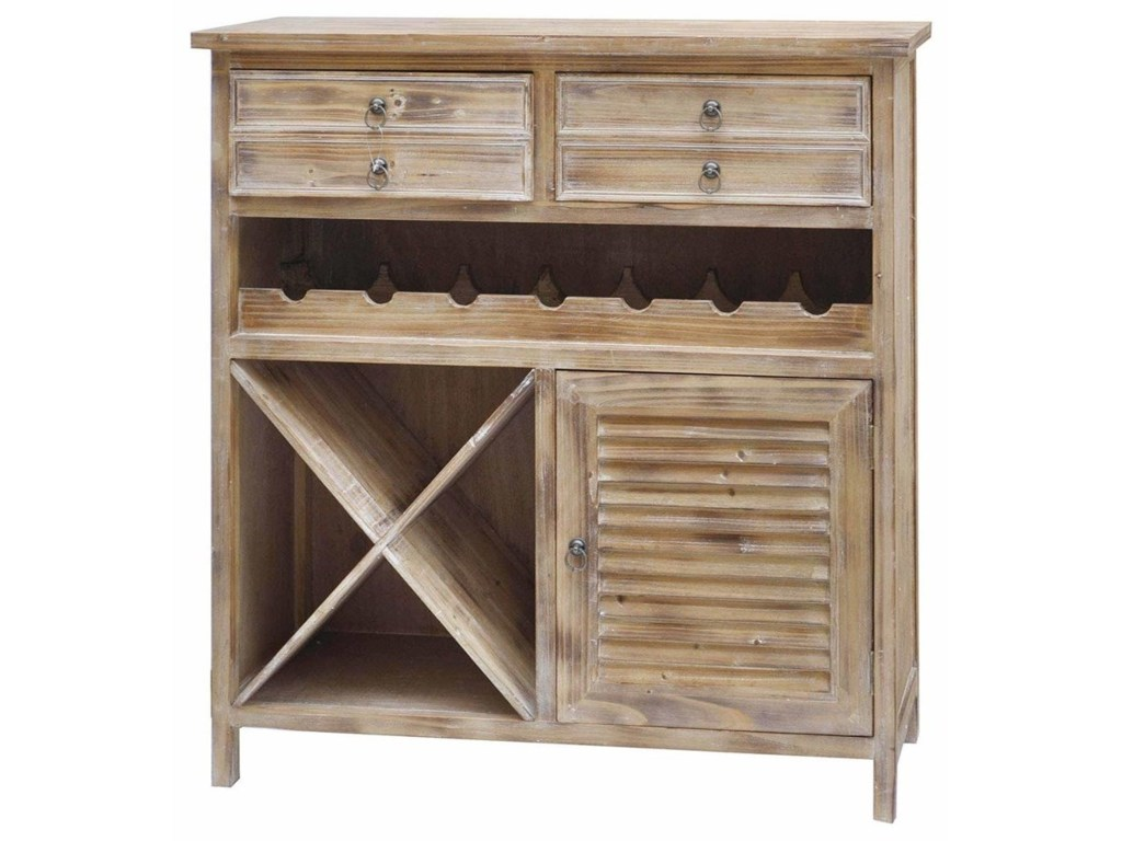 crestview collection accent furniture jackson drawer weathered oak products color table with wine rack furniturejackson cabinet coastal lamps small round pedestal side xmas
