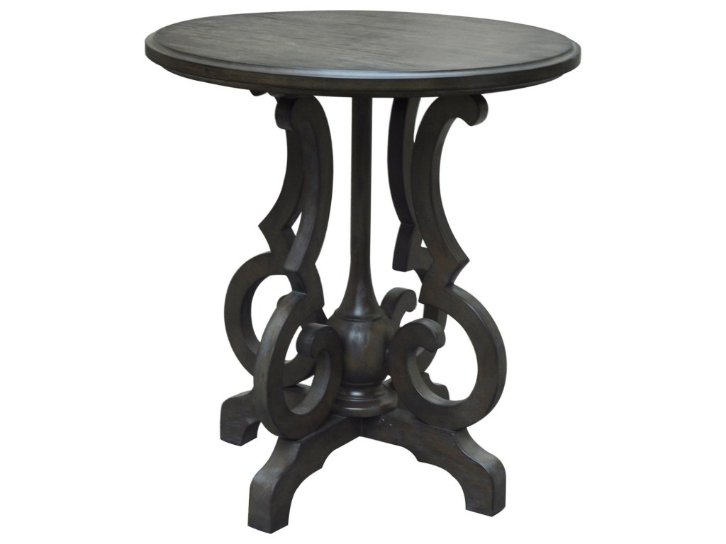 crestview collection accent furniture kensington shaped leg products color round table black furniturekensington burnished oak umbrella white marble top dining counter high room