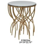crestview collection accent furniture melrose gold squiggly leg products color end table with mirror furnituremelrose beveled beautiful coffee tables decorative accessories for 150x150