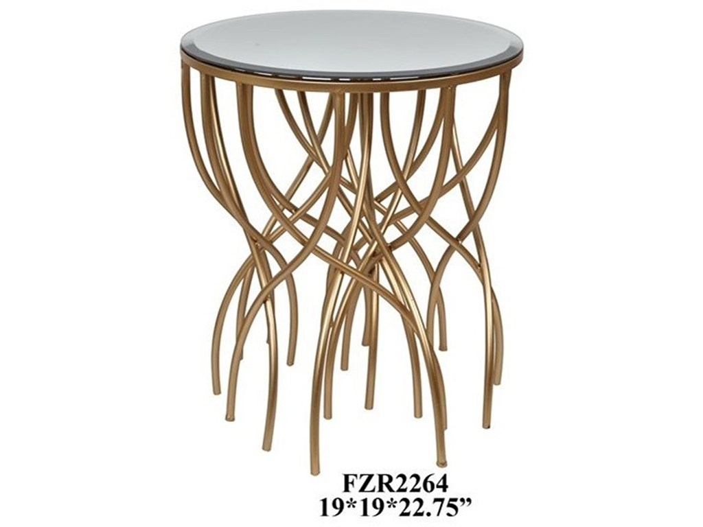 crestview collection accent furniture melrose gold squiggly leg products color end table with mirror furnituremelrose beveled beautiful coffee tables decorative accessories for