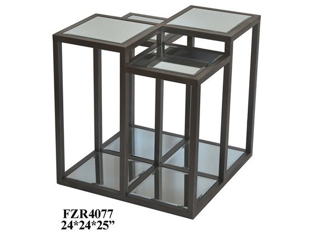 crestview collection accent furniture park avenue multi level metal products color mirrored glass table with drawer furnituremetal and mirror end small cream side patio nic