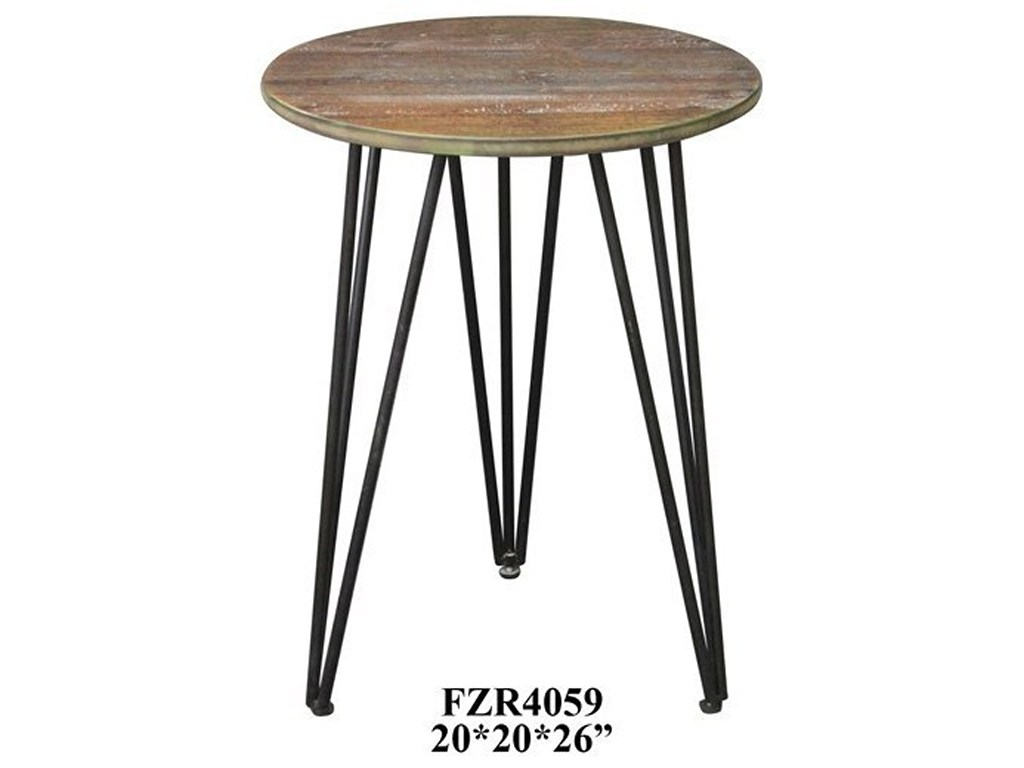 crestview collection accent furniture rockport rustic wood and metal products color threshold mirrored table furniturerustic round glass top coffee pier dining room antique half