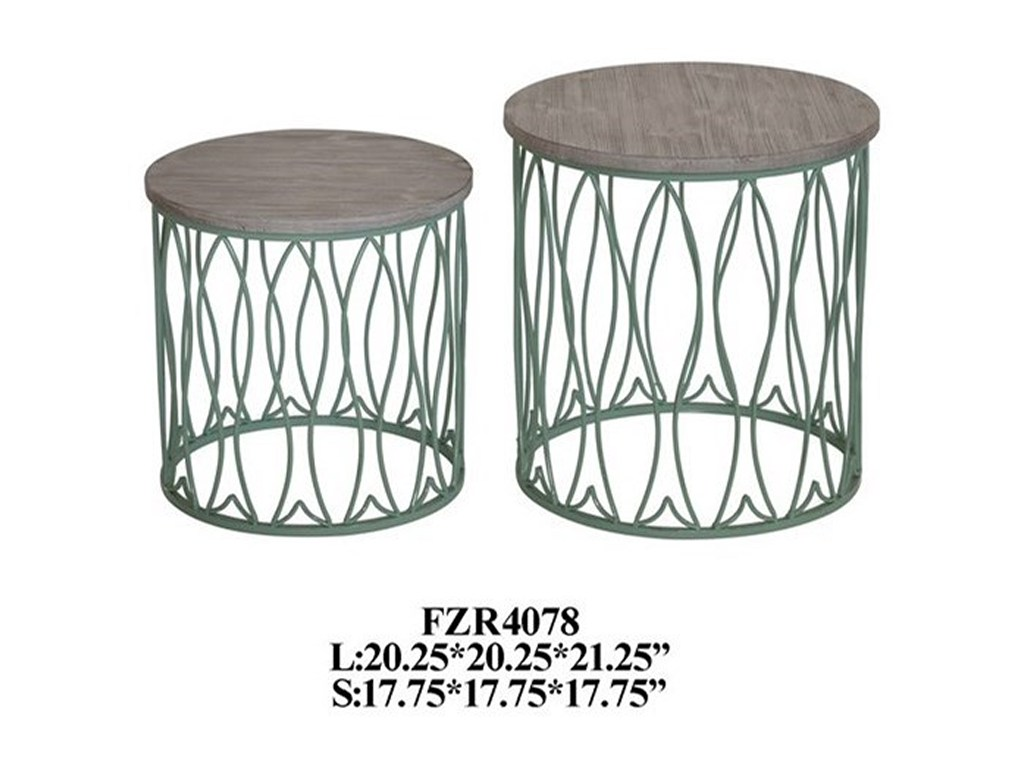 crestview collection accent furniture seafom green metal fish products color table furnitureseafom tables piece chair set hallway mirror cabinet silver leaf end round lucite
