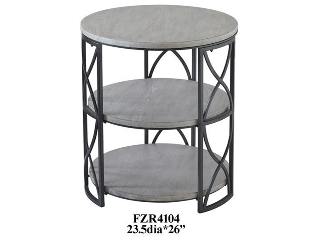 crestview collection accent furniture springfield grey metal and products color distressed quatrefoil end table with mirror furnituregrey wood small clear round outdoor setting