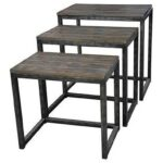 crestview collection accent furniture trail ridge aged metal and products color threshold table with wood top furnituretrail burnished oak set uttermost round end tables white 150x150