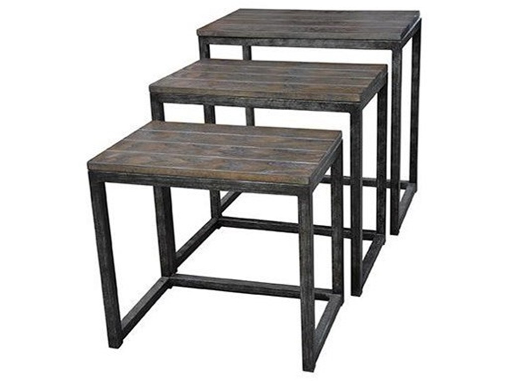crestview collection accent furniture trail ridge aged metal and products color threshold table with wood top furnituretrail burnished oak set uttermost round end tables white