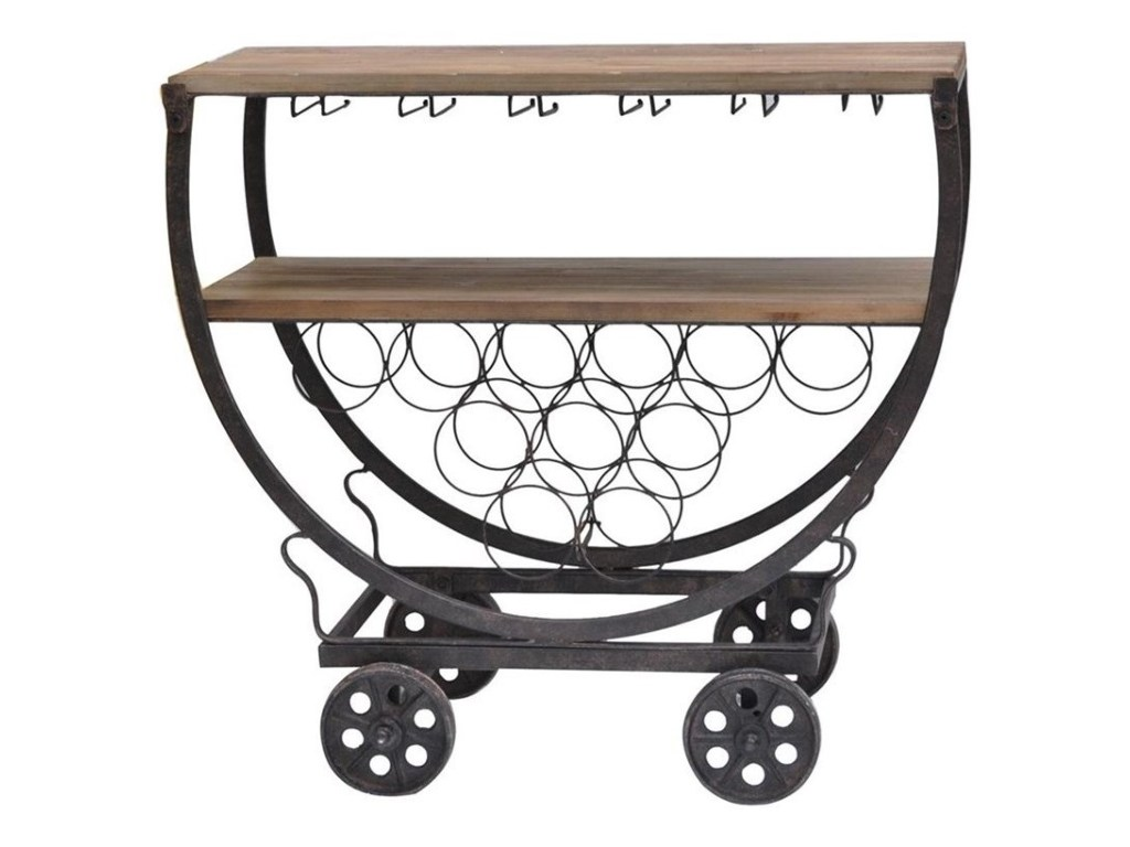 crestview collection accent furniture wine rack cart miskelly products color table with furniturewine console decor double vanity wipe clean placemats apothecary chest bronze drum