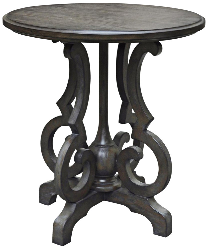 crestview collection kensington burnished oak round gray accent table kitchen dining wood coffee with drawers wrought iron pretty lamps for bedroom real modern pedestal small