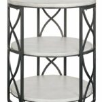 crestview collections jackson springfield frfbgkbdafmq tiered metal accent table grey and white wood inch round end marble tops ashley furniture wesling coffee razer ouroboros 150x150