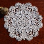 crochet hand made doily inches diameter lace white round victorian style accent table home decor doilies usd navy blue console circle marble coffee trestle dining pottery barn 150x150
