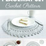 crochet pattern table placemat set the placement accent includes intricate crocheted and coaster these delicate lacy pieces are drawer mirrored bedside ethan allen leather 150x150