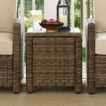 crosley bradenton square wicker side table brown inuse outdoor nic and bench room essentials desk front porch seating round granite top coffee walnut nest tables small nightstand 150x150