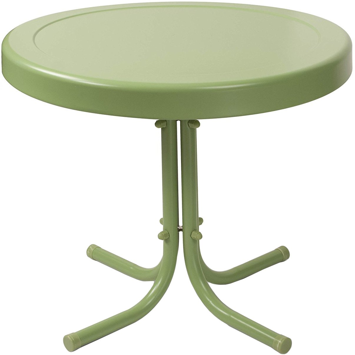 crosley furniture gracie retro inch metal outdoor side table plastic oasis green kitchen dining wrought iron patio accent cherry round glass brass coffee aluminum legs rain drum