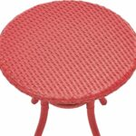 crosley furniture palm harbor outdoor wicker round side table red medium accent bistro and chairs battery powered dining lamp nate berkus towels umbrella stand with wheels hole 150x150