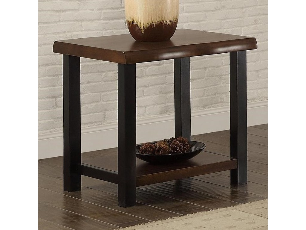 crown mark crane live edge end table with metal legs wayside products color accent brown threshold craneend couch ideas tall entryway cabinet fold away coffee ikea large storage