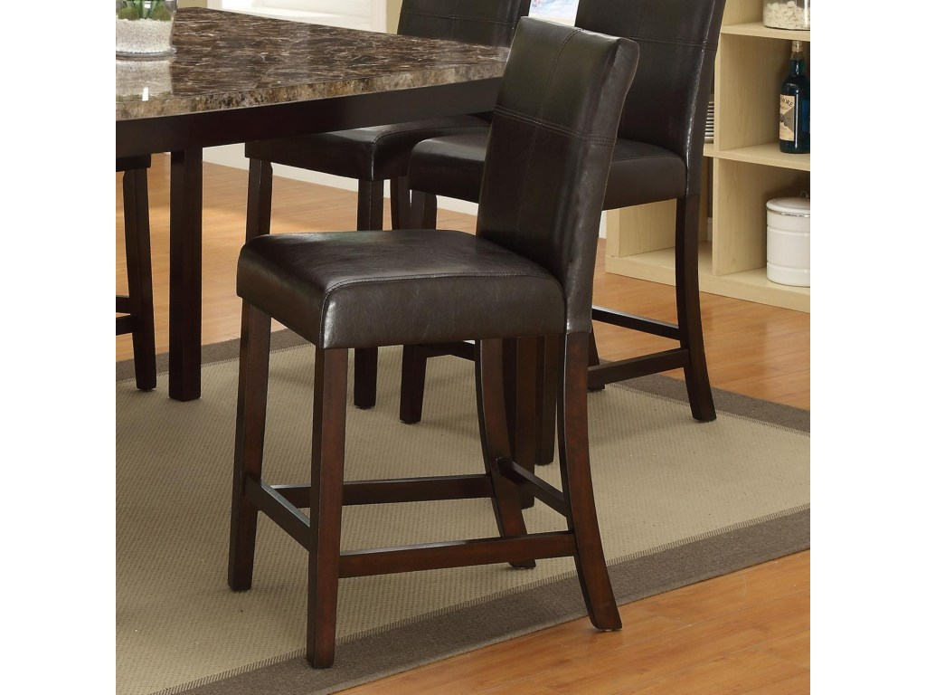 crown mark pompei counter height chair with accent stitching products color bar table round sectional small tall dark wood coffee sets tablecloth for square entrance console lift