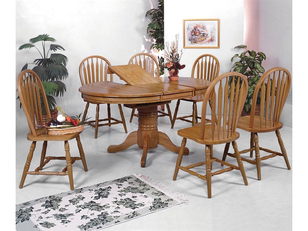 crown mark windsor solid piece oval dining table and side chairs products color oak leg top accent pieces slim glass patio furniture sets stained light target shoe storage pottery