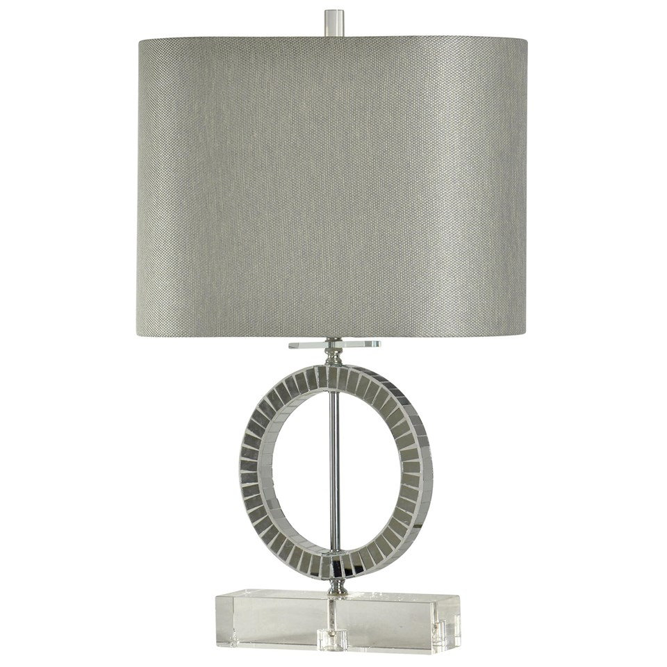 crystal base accents the round mirrored table lamp with oval fabric shade accent contemporary coffee tables toronto cocktail linens mirror design rectangle storage inexpensive