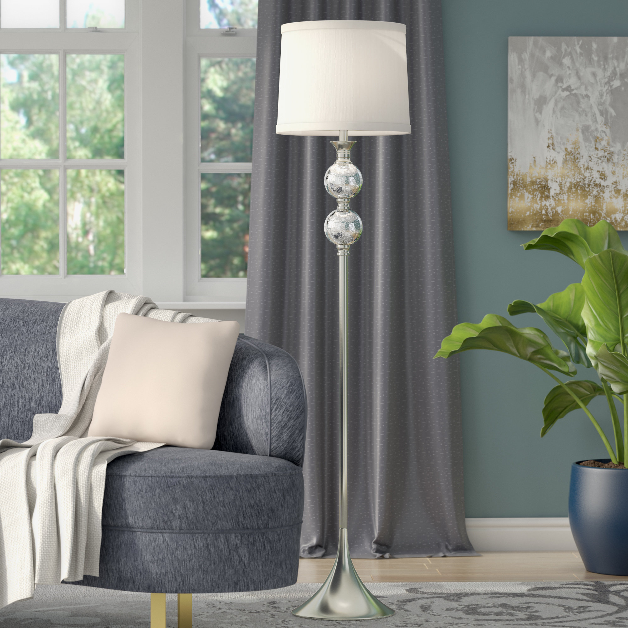 crystal chandelier floor lamp mcmillan and metal accent table spindle legs green bedside round garden coffee corner occasional drop leaf lighting portland cocktail linens jcpenney