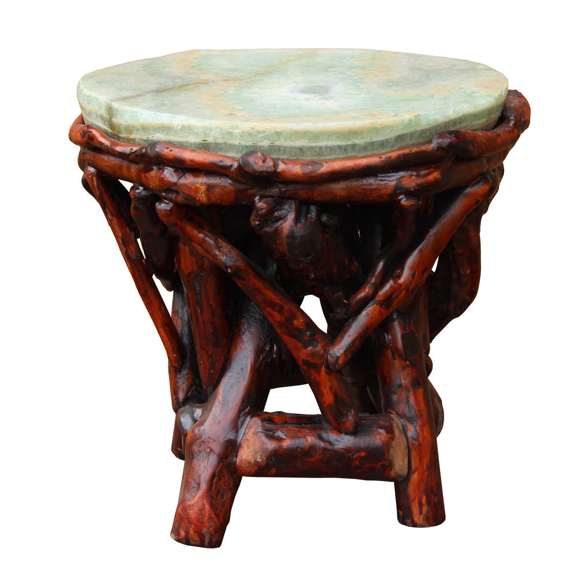 crystal jade stone top bamboo wood stick accent stool table etsy fullxfull jaca tibetan drum kitchen dining sets metal wine rack teak standard height sofa end pineapple umbrella