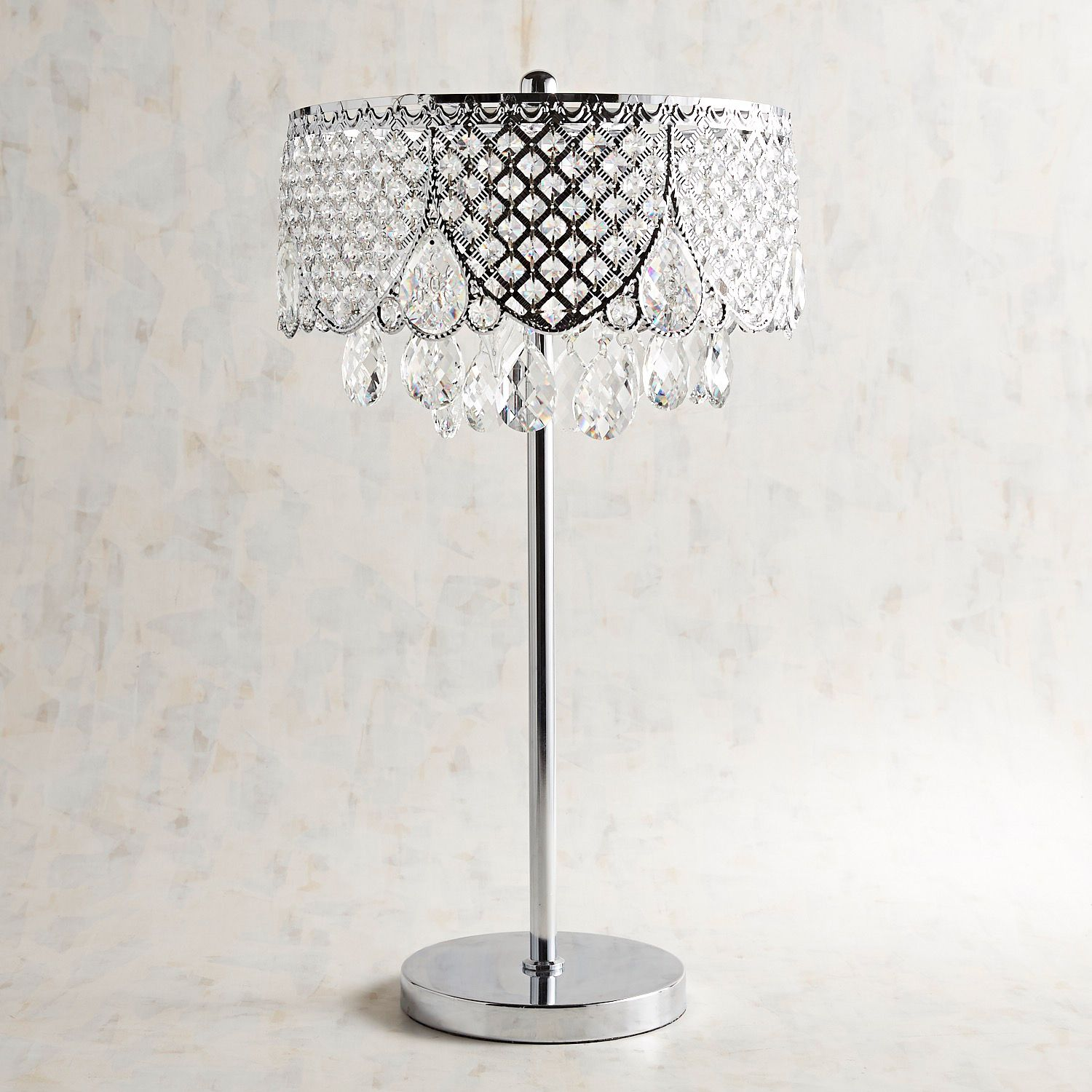 crystal table lamp pier imports one accent lamps insulated ice bucket modern dining room sets purple linens garden umbrella outdoor wicker furniture silver metal console cool