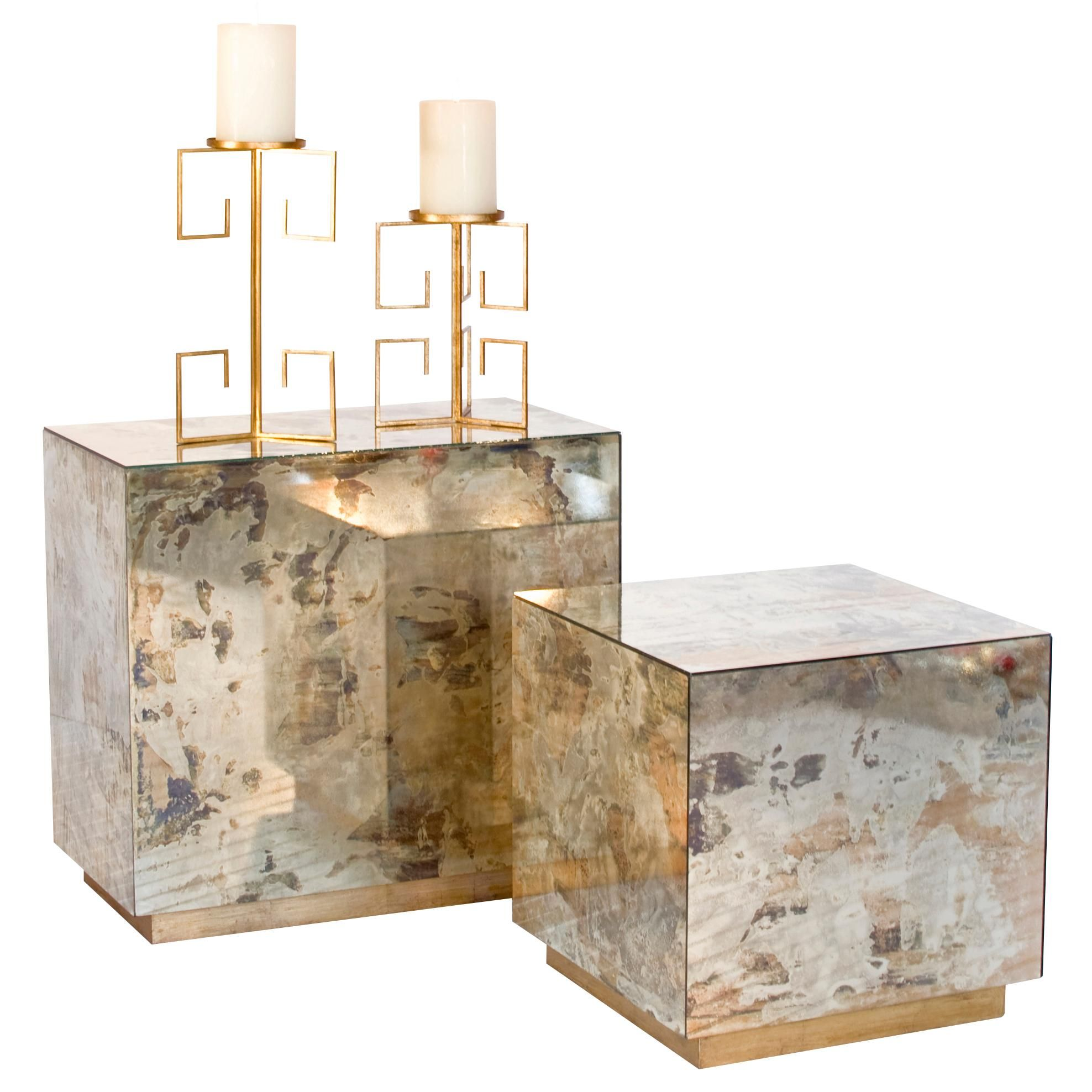 cubo reverse mirror cocktail cube right and side table left mirrored accent home ornaments modern lamp designs crystal lamps short end wine rack shelf contemporary tables for