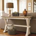 curated drop leaf console table with shaped pedestals universal small accent versatility key when comes this perfect for space can used piece behind sofa dark wood coffee round 150x150