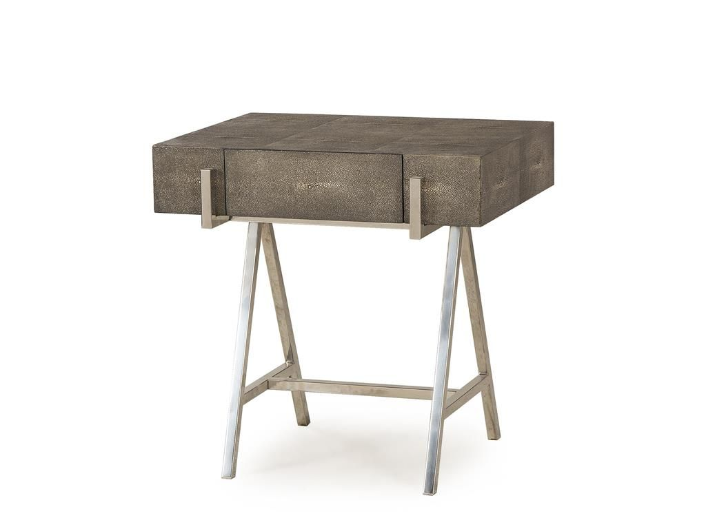 curated kravet sampson side table charcoal martis misc martin furniture accent brown coffee and end tables high glass battery operated lamps large metal clock kitchen tablecloth