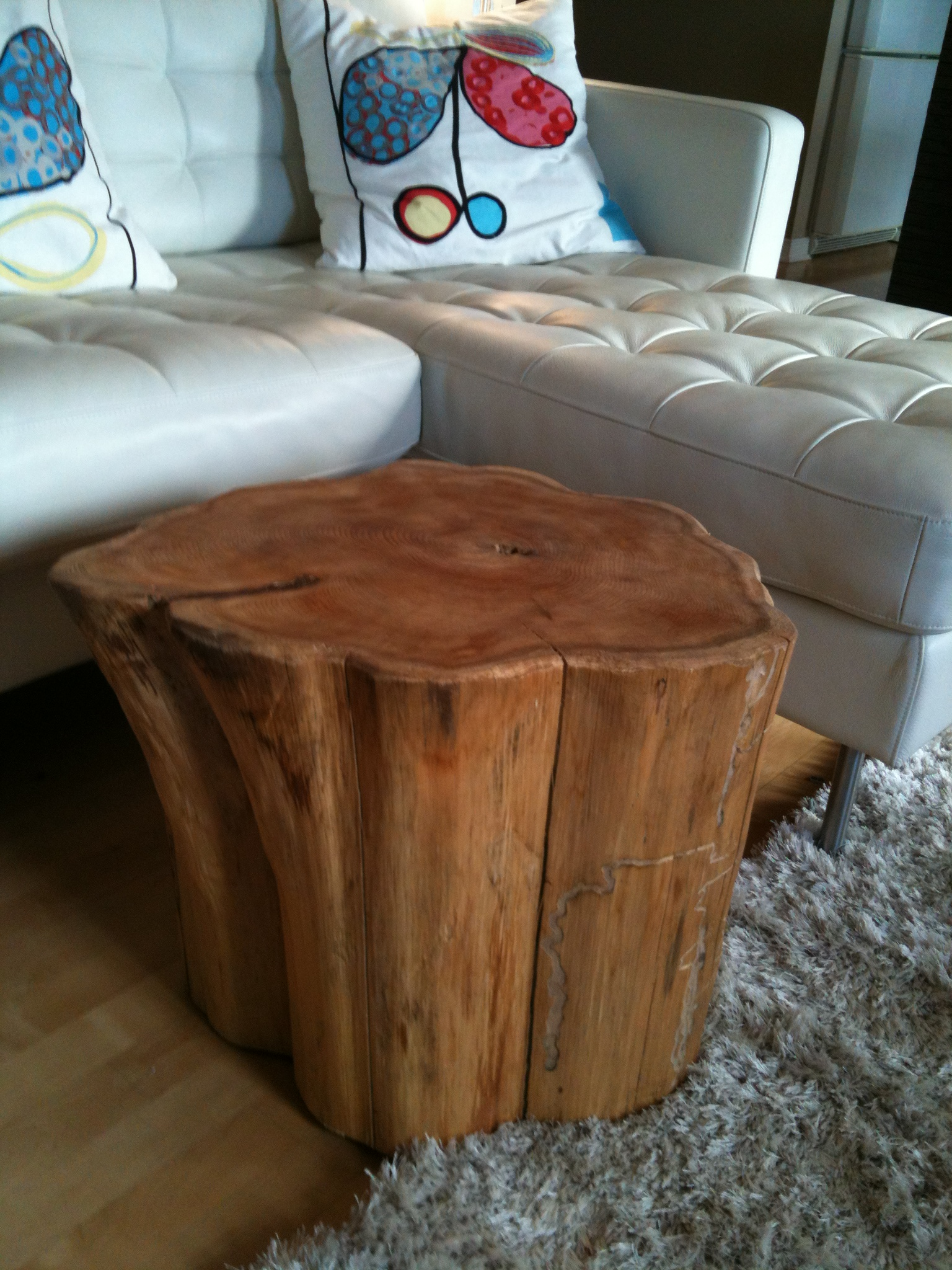 curious tree stump side table fossil brewing design wooden coffee wood accent outside and chairs drawer file cabinet black cube end round sofa touch lamps multi colored battery