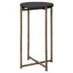 curly furniture brycewood black gold finish accent table signature design ashley entrance wall iron and glass woven outdoor small half circle modern coffee tables edmonton wrought 150x150