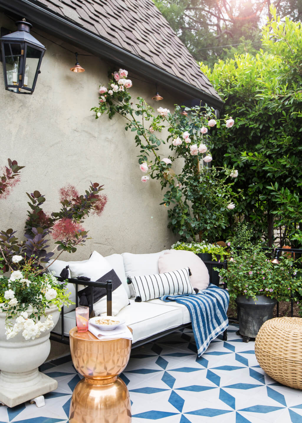 currently obsessed things the peak tres chic bloglovin emily henderson house beautiful courtyard tile modern english country miles redd kidney accent table ultra furniture inch