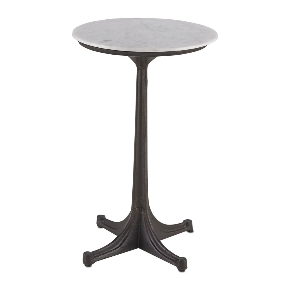 currey and company belrose cast iron accent table with marble top black bronze white free shipping today room essentials queen comforter dining chairs only decorations ikea garden