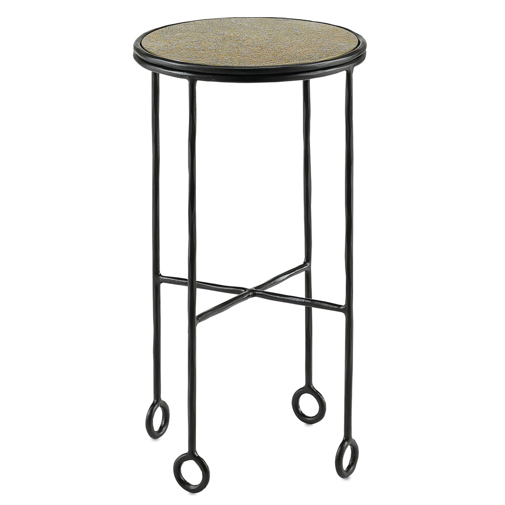 currey jorin black antique brass accent table tap expand adjustable height numeral wall clock west elm mid century silver bedside lamps grey end target small cloth red occasional