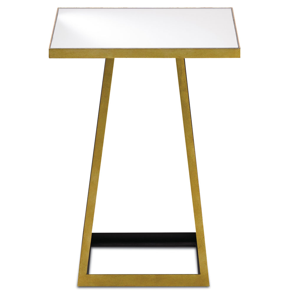 currey mondo gold leaf satin black accent table tap expand thin behind couch end tables for small spaces outside storage bench cabinets with glass doors coffee and ikea garage