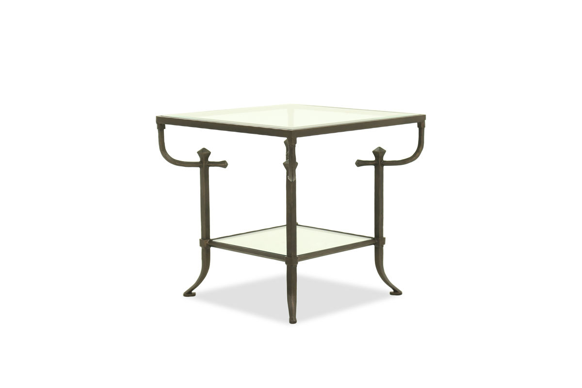 curved leg mid century modern end table bronze mathis brothers bht hawthorne glass top accent additional information round industrial outdoor bbq inch hairpin legs square patio
