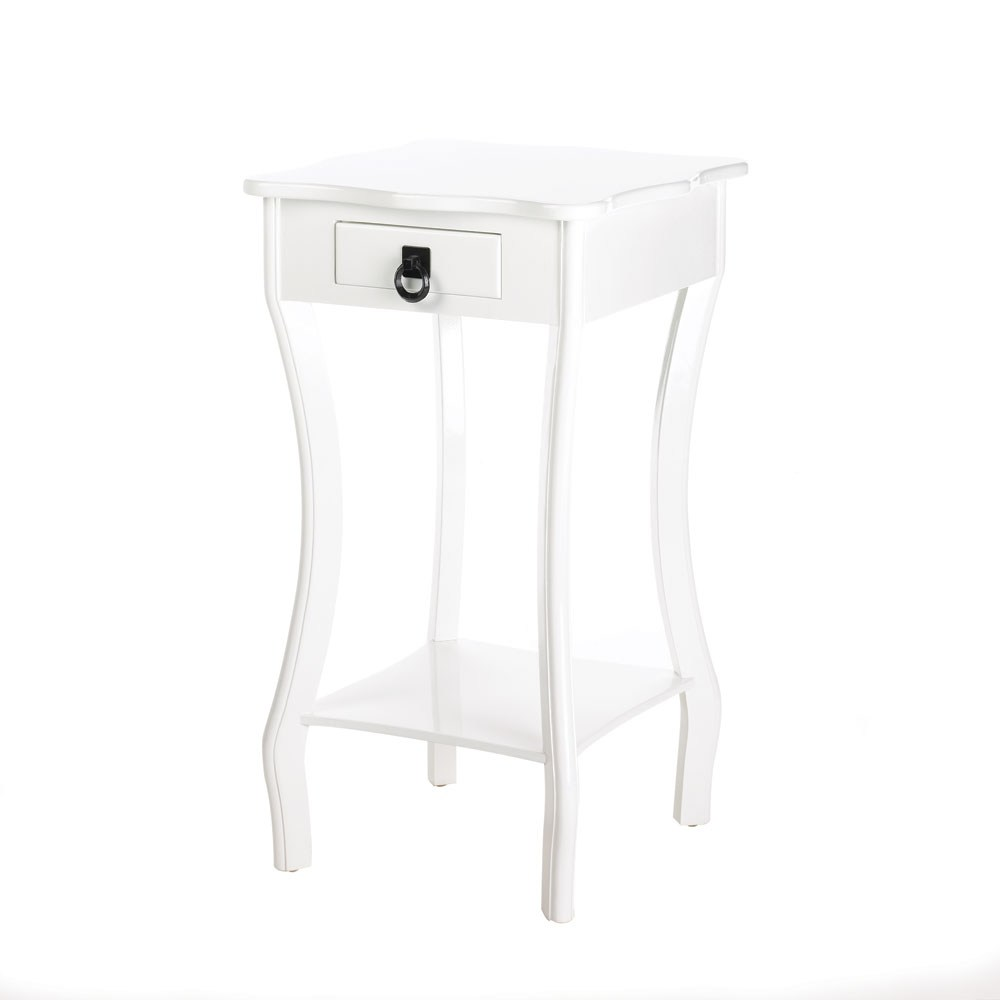 curvy white accent table free shipping today linon galway bar cabinet chestnut end target kitchen furniture small adjustable legs trestle brass rectangular coffee uttermost gin
