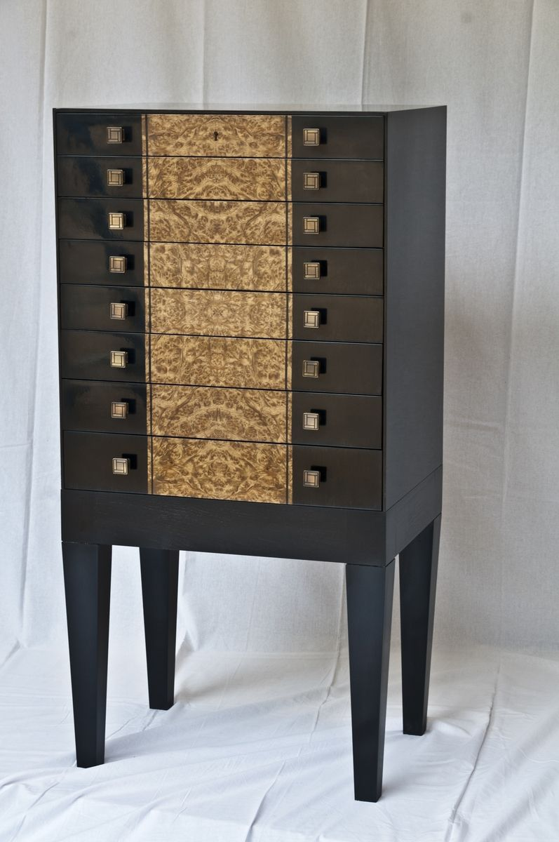 custom armoire custommade cherry corner accent table sleek modern black and burl jewelry dave heller outdoor end ideas little bedside craigslist coffee brass with glass top small