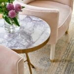 custom blush chairs jenkins interiors marble and brass side pink accent table fresh flowers blue print blueprint target threshold drawer metal garden windham furniture collection 150x150