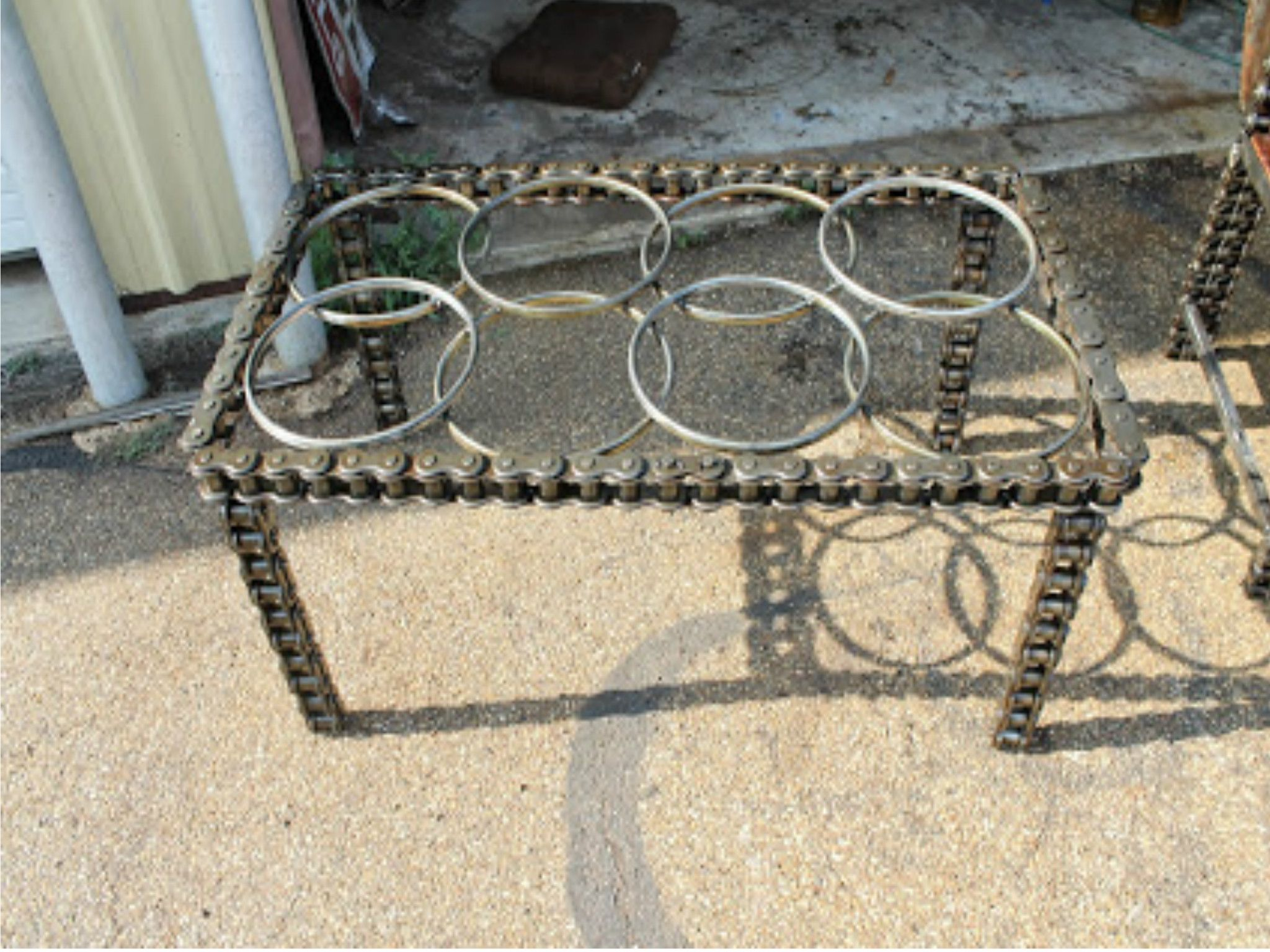 custom coffee table sculptural furniture metal chain industrial chic accent made small mats torch lamp canadian tire lounge chairs pier lamps vintage asian pottery barn lazy susan