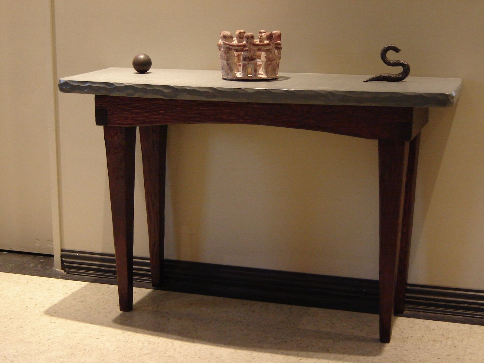 custom foyer table stone and wood stonehunterstudio accent made napkin bedside height modern tables ikea chinese ceramic lamps bunnings garden furniture living room design white