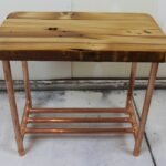 custom made reclaimed copper pipe side table barn wood siding barnwood accent furniture black outdoor end tables brass and marble mirrored cocktail pier lamps desk rustic 150x150