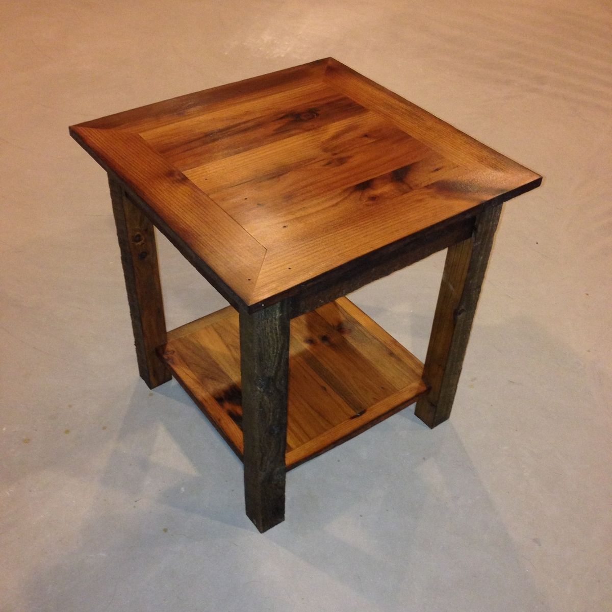 custom reclaimed barnwood end table ore dock design custommade accent entry decor ideas white glass side mirrored cocktail nightstand legs high gloss room essentials curtains ikea