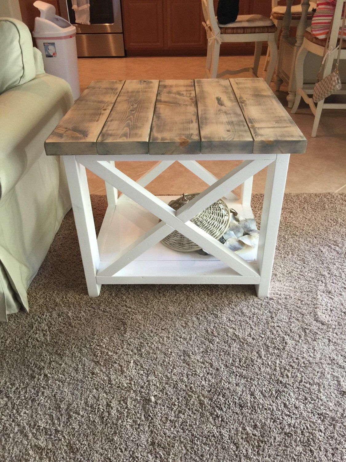custom rustic farmhouse end table accent thewoodmarket etsy listing small white round side modern with storage west elm scoop lamp night tables for bedroom acrylic ikea mohawk