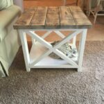custom rustic farmhouse end table places think yes style accent thewoodmarket etsy desk combo pottery barn white side ikea wall clothes storage mosaic garden bench home goods 150x150