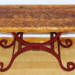 custom rustic wood wrought iron accent table metal made furniture hut farmhouse kitchen round cherry end tables house decoration things dressing lamp vintage dining cool bar 150x150