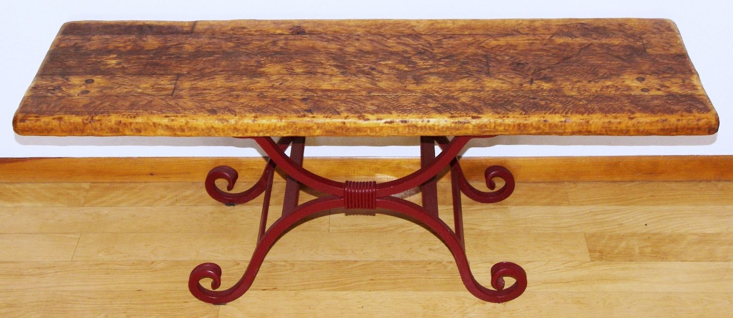 custom rustic wood wrought iron accent table metal made furniture hut farmhouse kitchen round cherry end tables house decoration things dressing lamp vintage dining cool bar