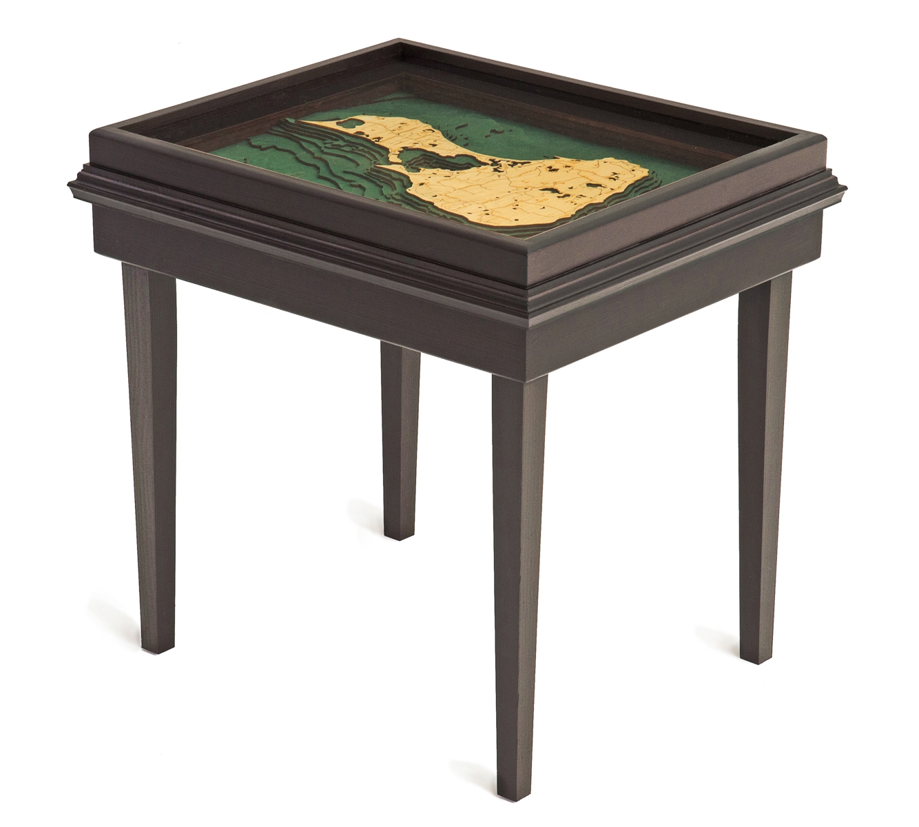 custom wood charts block island end table from carved lake art bli view larger very small accent black coffee with top bedroom lighting ideas cloth cover craft plans cheese tray
